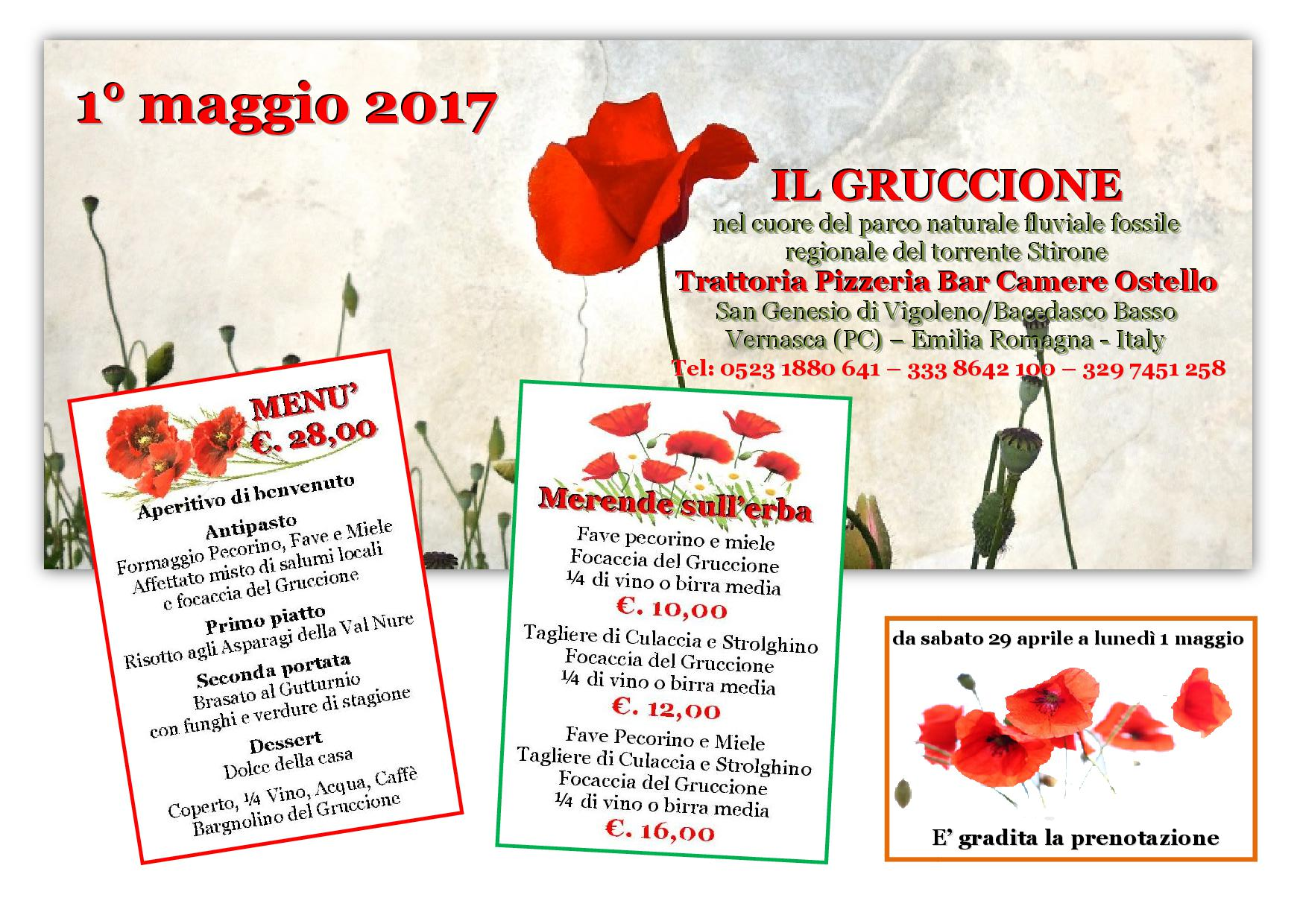 weekend 1 maggio